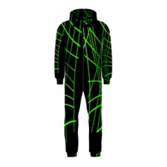 Green neon abstraction Hooded Jumpsuit (Kids)