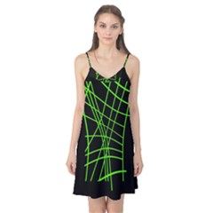Green neon abstraction Camis Nightgown