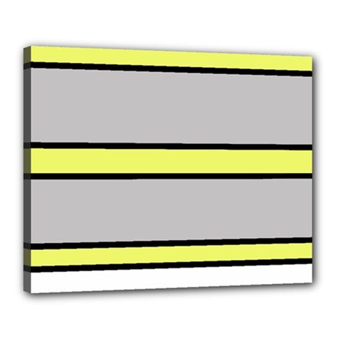 Yellow and gray lines Canvas 20  x 16