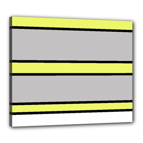 Yellow and gray lines Canvas 24  x 20