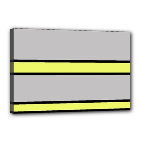 Yellow and gray lines Canvas 18  x 12