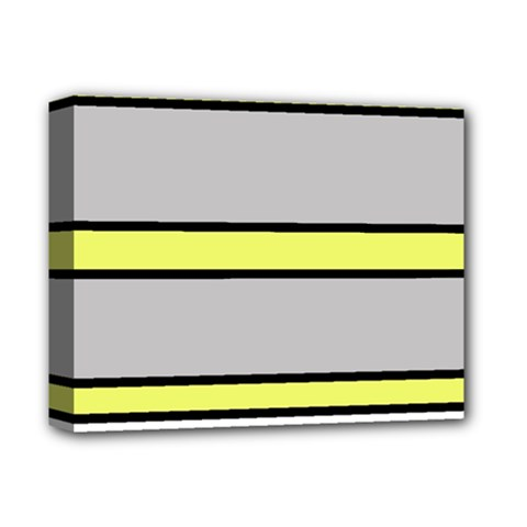 Yellow and gray lines Deluxe Canvas 14  x 11