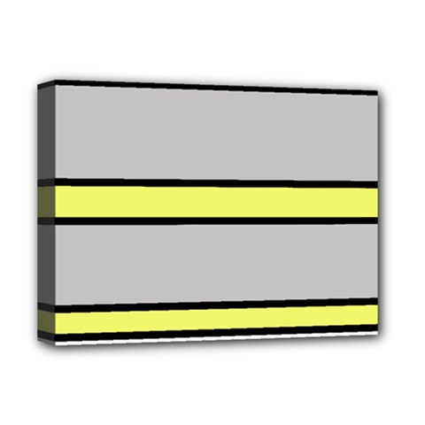 Yellow and gray lines Deluxe Canvas 16  x 12