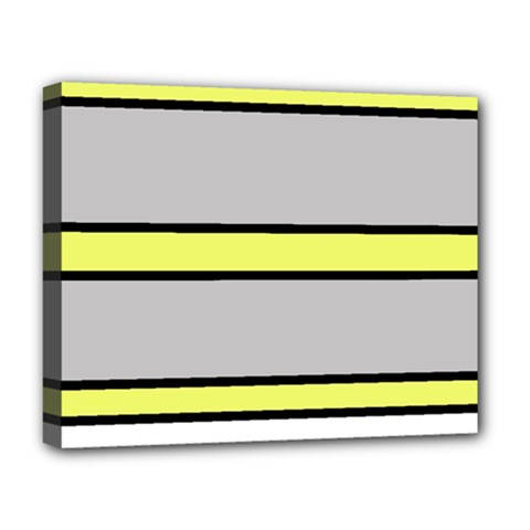 Yellow and gray lines Deluxe Canvas 20  x 16