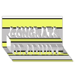 Yellow and gray lines Congrats Graduate 3D Greeting Card (8x4)