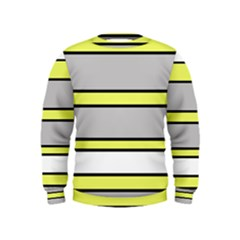 Yellow And Gray Lines Kids  Sweatshirt