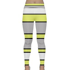 Yellow and gray lines Yoga Leggings