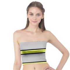Yellow and gray lines Tube Top
