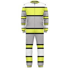 Yellow and gray lines OnePiece Jumpsuit (Men)