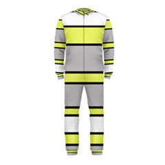 Yellow and gray lines OnePiece Jumpsuit (Kids)