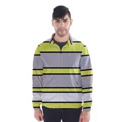 Yellow and gray lines Wind Breaker (Men)