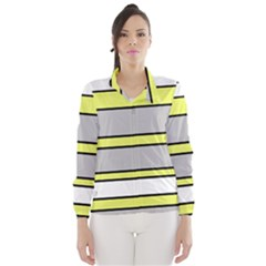 Yellow and gray lines Wind Breaker (Women)