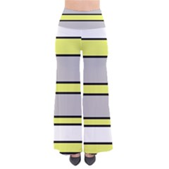 Yellow and gray lines Pants