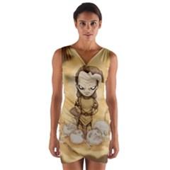 Scourge Of Carpathia Wrap Front Bodycon Dress