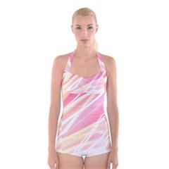 Light Fun Boyleg Halter Swimsuit