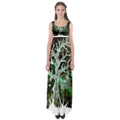 Tree Hearts & Stars (invert) Empire Waist Maxi Dress