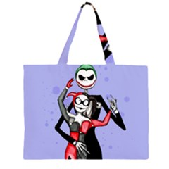Nightmare Before Mad Love  Zipper Large Tote Bag