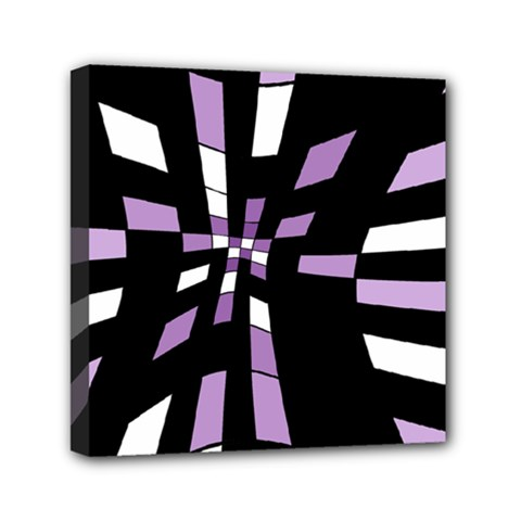 Purple abstraction Mini Canvas 6  x 6