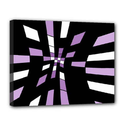 Purple abstraction Canvas 14  x 11