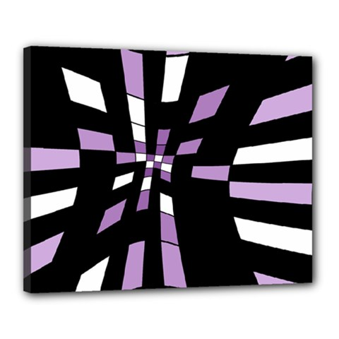Purple abstraction Canvas 20  x 16