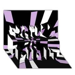 Purple abstraction You Did It 3D Greeting Card (7x5)