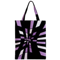 Purple abstraction Zipper Classic Tote Bag