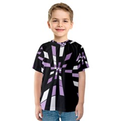 Purple abstraction Kid s Sport Mesh Tee