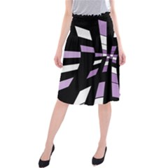 Purple abstraction Midi Beach Skirt