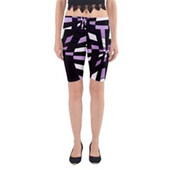 Purple abstraction Yoga Cropped Leggings