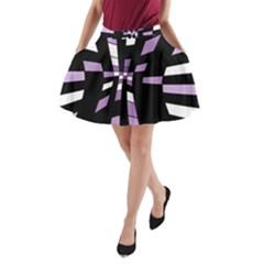 Purple abstraction A-Line Pocket Skirt