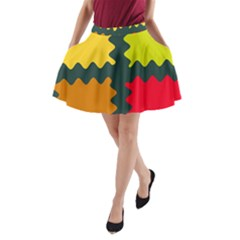 4 Shapes                                                                                 A Line Pocket Skirt