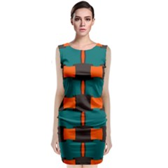 3 colors shapes pattern                                     Classic Sleeveless Midi Dress