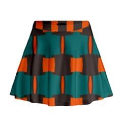 3 Colors Shapes Pattern                                                                                    Mini Flare Skirt