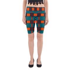 3 colors shapes pattern                                                                                  Yoga Cropped Leggings