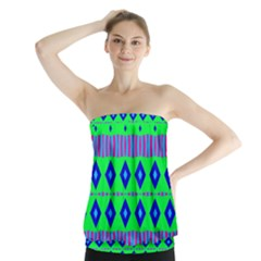 Rhombus and stripes                    Strapless Top