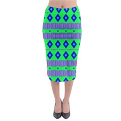 Rhombus and stripes                                                                                     Midi Pencil Skirt