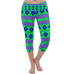 Rhombus and stripes       Capri Yoga Leggings