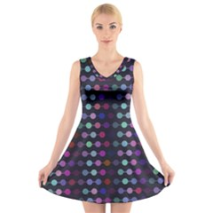 Connected dots                                                                                 V-Neck Sleeveless Dress