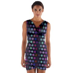 Connected Dots                      Wrap Front Bodycon Dress