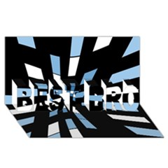 Blue abstraction BEST BRO 3D Greeting Card (8x4)