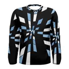 Blue abstraction Men s Long Sleeve Tee