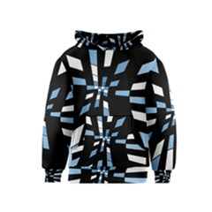 Blue abstraction Kids  Pullover Hoodie