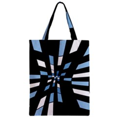 Blue abstraction Zipper Classic Tote Bag