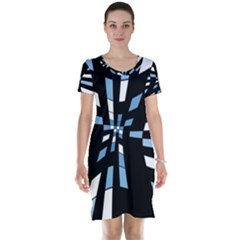 Blue abstraction Short Sleeve Nightdress