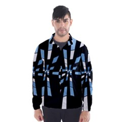 Blue abstraction Wind Breaker (Men)
