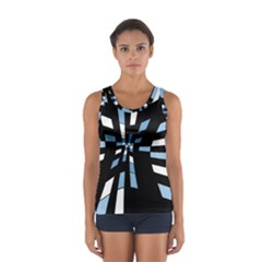 Blue Abstraction Women s Sport Tank Top