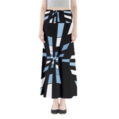 Blue abstraction Maxi Skirts