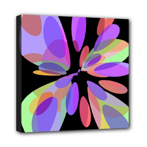 Colorful abstract flower Mini Canvas 8  x 8