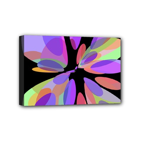 Colorful abstract flower Mini Canvas 6  x 4