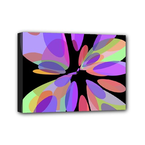 Colorful abstract flower Mini Canvas 7  x 5